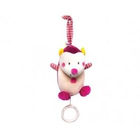 Hedgehog musical toy rosa