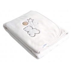 Luxury blanket with embroiderybeige80*110cm