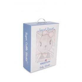 Manta Rabbits Azul 110x140cm