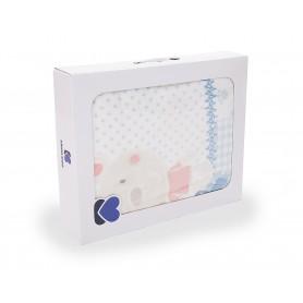 Manta bebéFantasia Azul80*110 cm