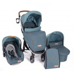 Stroller 3 in 1 Madrid Green Melange