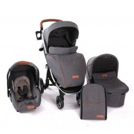 Stroller 3 in 1 Madrid Grey Melange