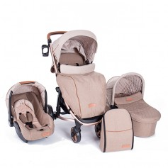 Stroller 3 in 1 Madrid Beige Melange
