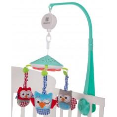 Carrusel musical con proyector Owls Verde