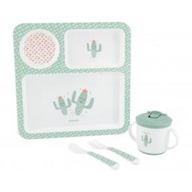 Juego de vajilla 4pcs Cactus Verde