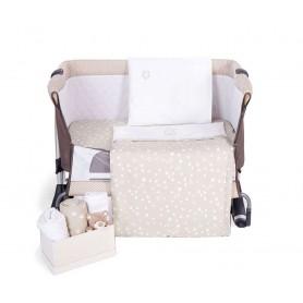 Beige Embroidered Mini Crib Set