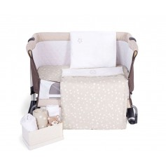 Beige Embroidered Mini Crib Set