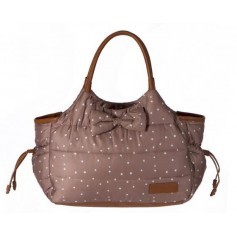 Brown Dotty Bag