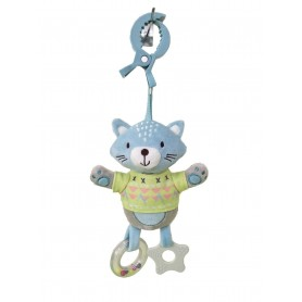 Cat stroller toy with clip
