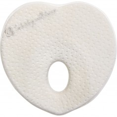 Memory foam ergonomic pillow Heart Velvet White