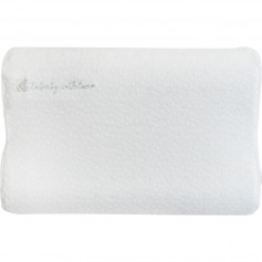 Almohada ergonómica ventilada Memory Foam de terciopelo blanco