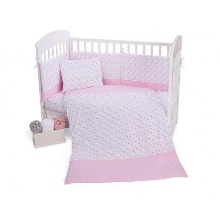 Jersey Blanket - Pink Flowers