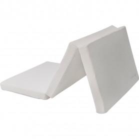 Colchón plegable de algodón 60/120/5 de terciopelo gris