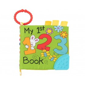 Libro de tela para bebés con hojas acolchadas