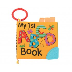 Libro de tela para bebés con hojas acolchadas ABC