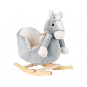 Balancín con musica caballo Gris