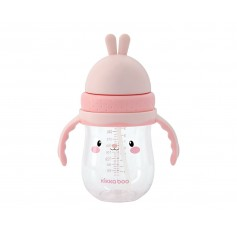 Vaso de Tritan con pajita 300 ml Bunny Pink