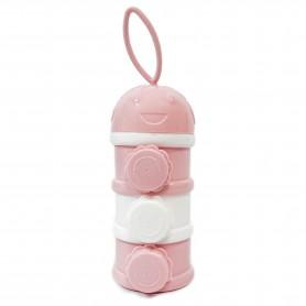 Dispensador de leche en polvo 3 capas Rosa