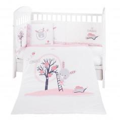 Juego de cama 6pcs 60/120 Pink Bunny