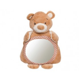 Plush bear mirror toy