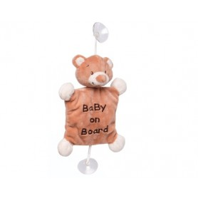 "Plush bear ""Baby on board"" toy"