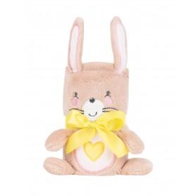 Manta con bordado 3D Pink Bunny